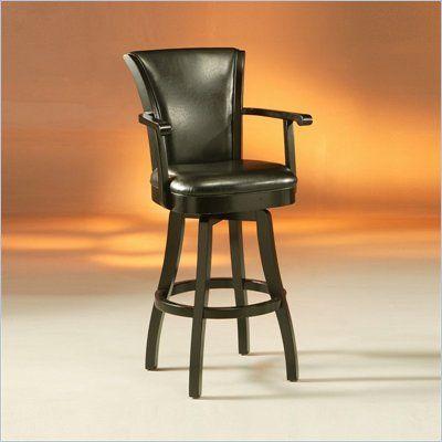 Pastel Furniture Glenwood 26 Swivel Arm Counter Stool In Feher Black Gl 217 26 Fb 370oo Pastel Furniture Leather Stool Bar Stools