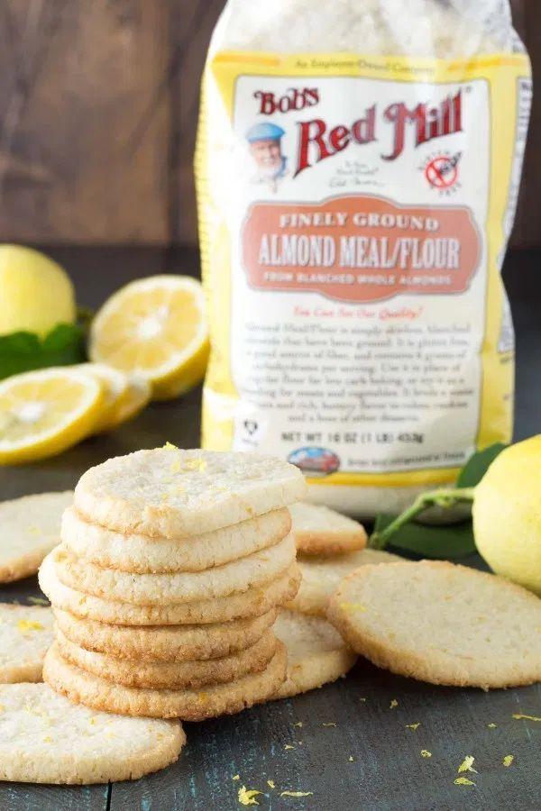 Lemon Almond Flour Shortbread Cookies - Gluten-Free
