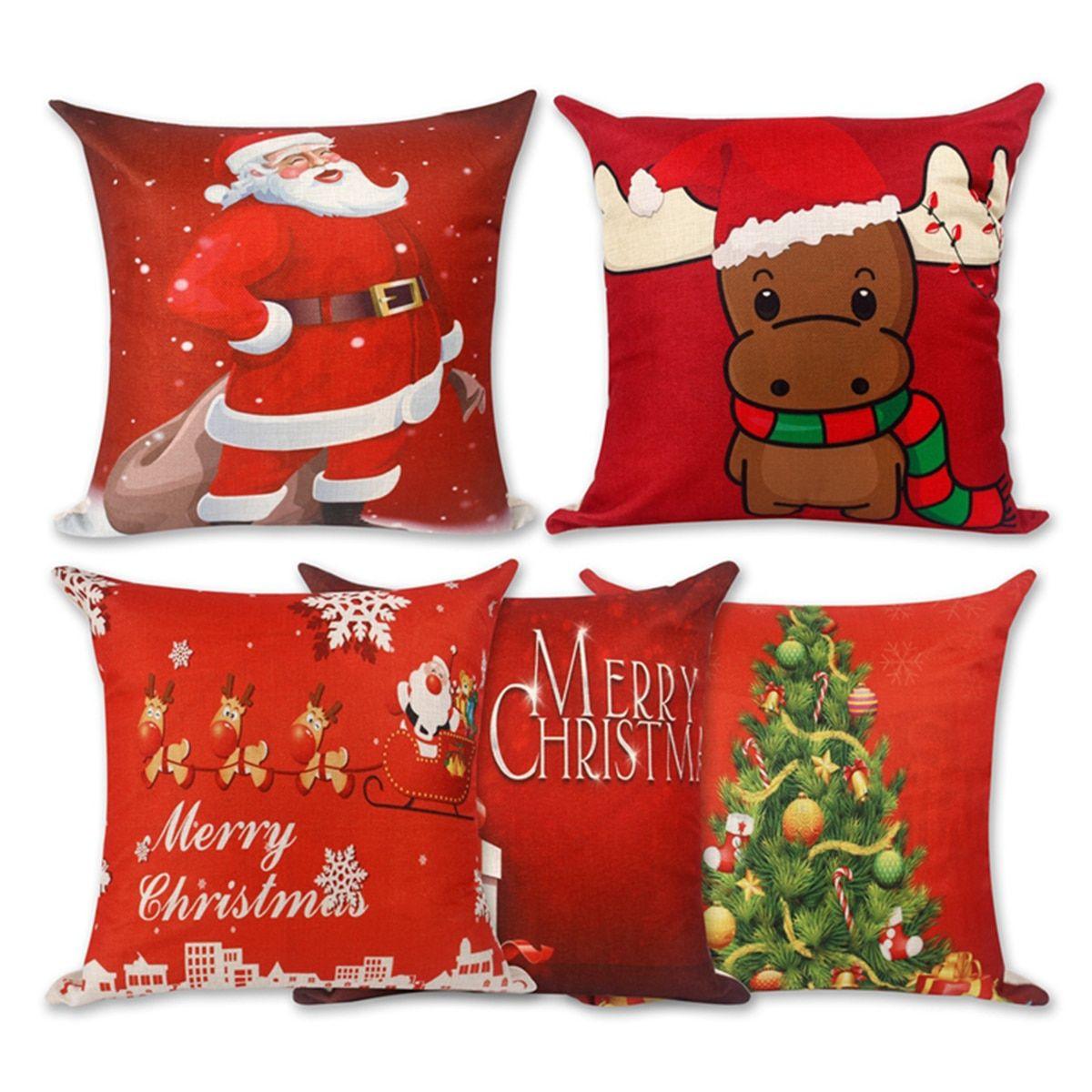 Christmas Decoration Cushion Cover Christmas Pillowcases Xmas Pillows Christmas Pillow Covers