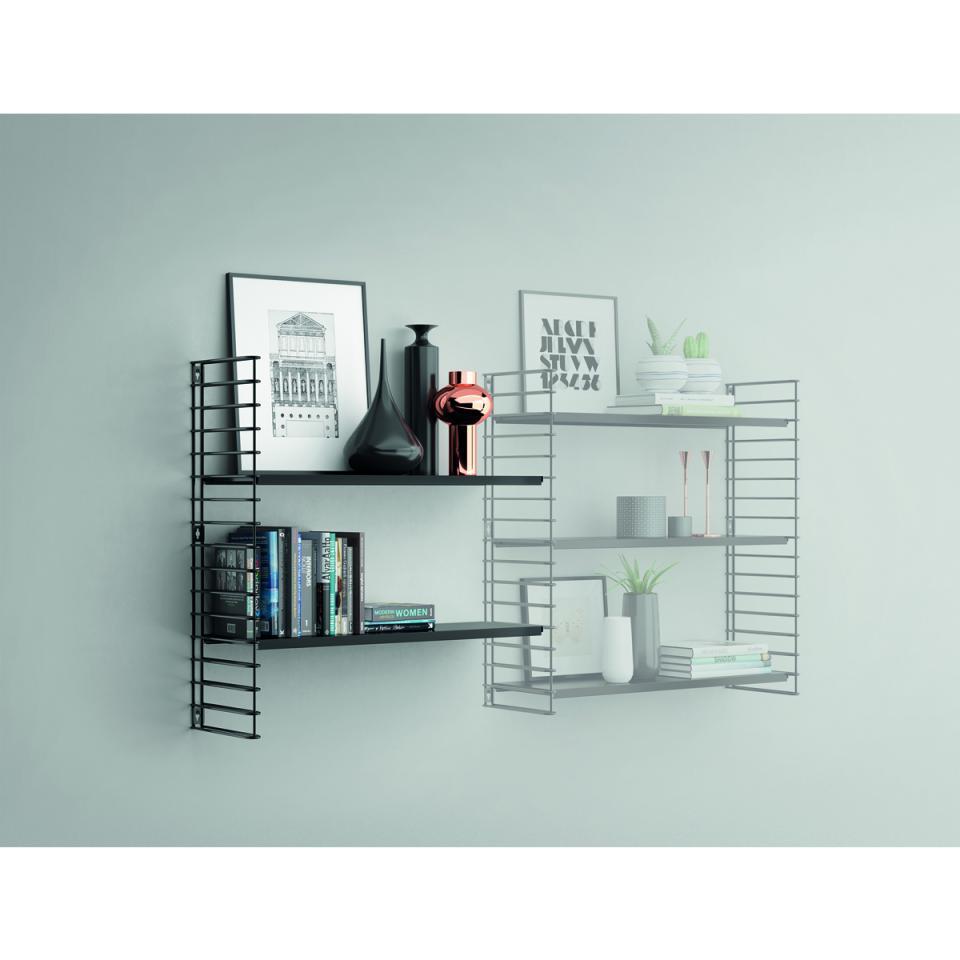 Tomado Boekenrekuitbreiding Zwarte Frame En Planken Blokker Plank Boekenrekken Boekenkasten