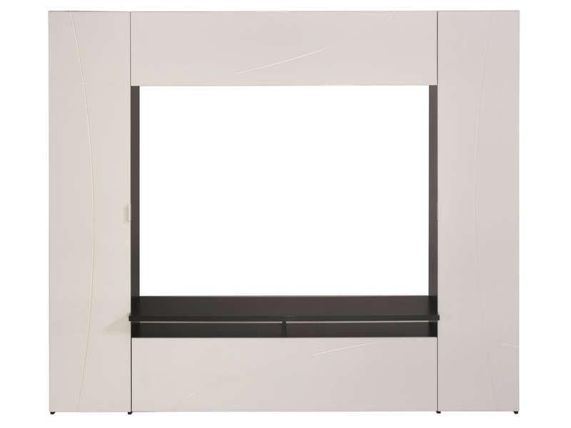 Meuble Tv Think Coloris Blanc Noir Conforama Meuble Tv