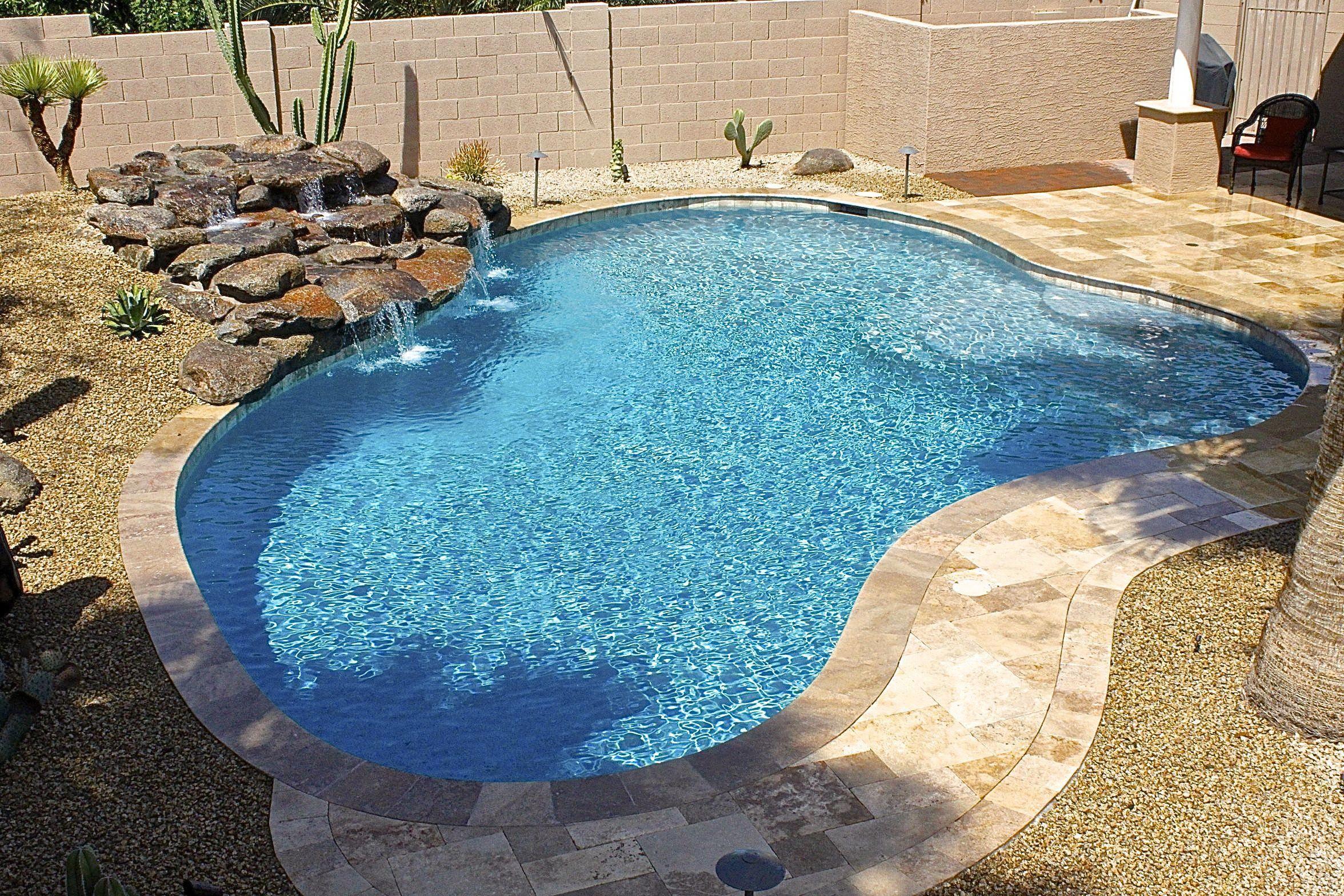 6 Small Backyard Ideas with a Pool | Freeform pools, Pools ... |Small Freeform Pools With Waterfalls