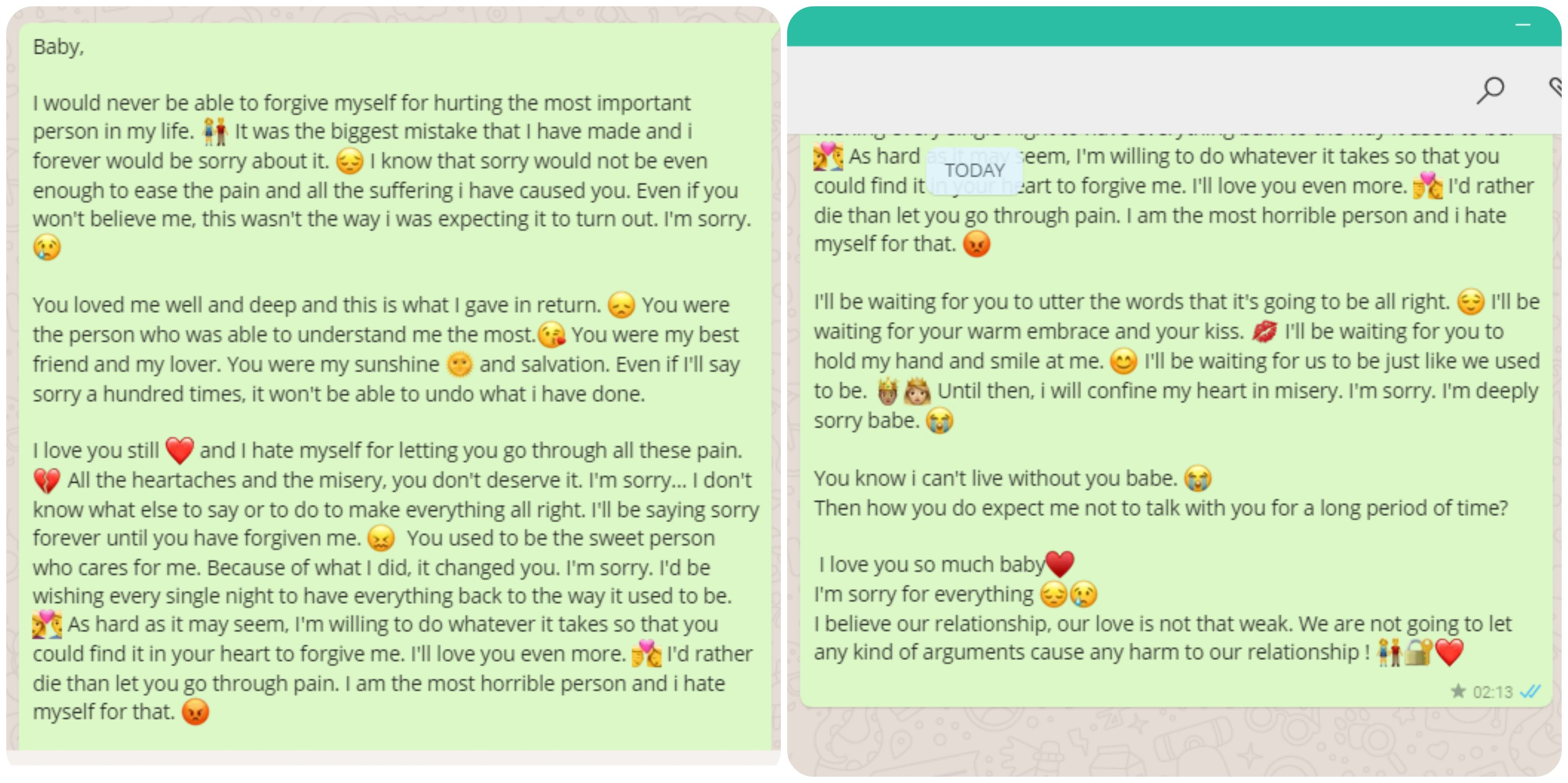 Apology love letter for my boyfriend well i think this is