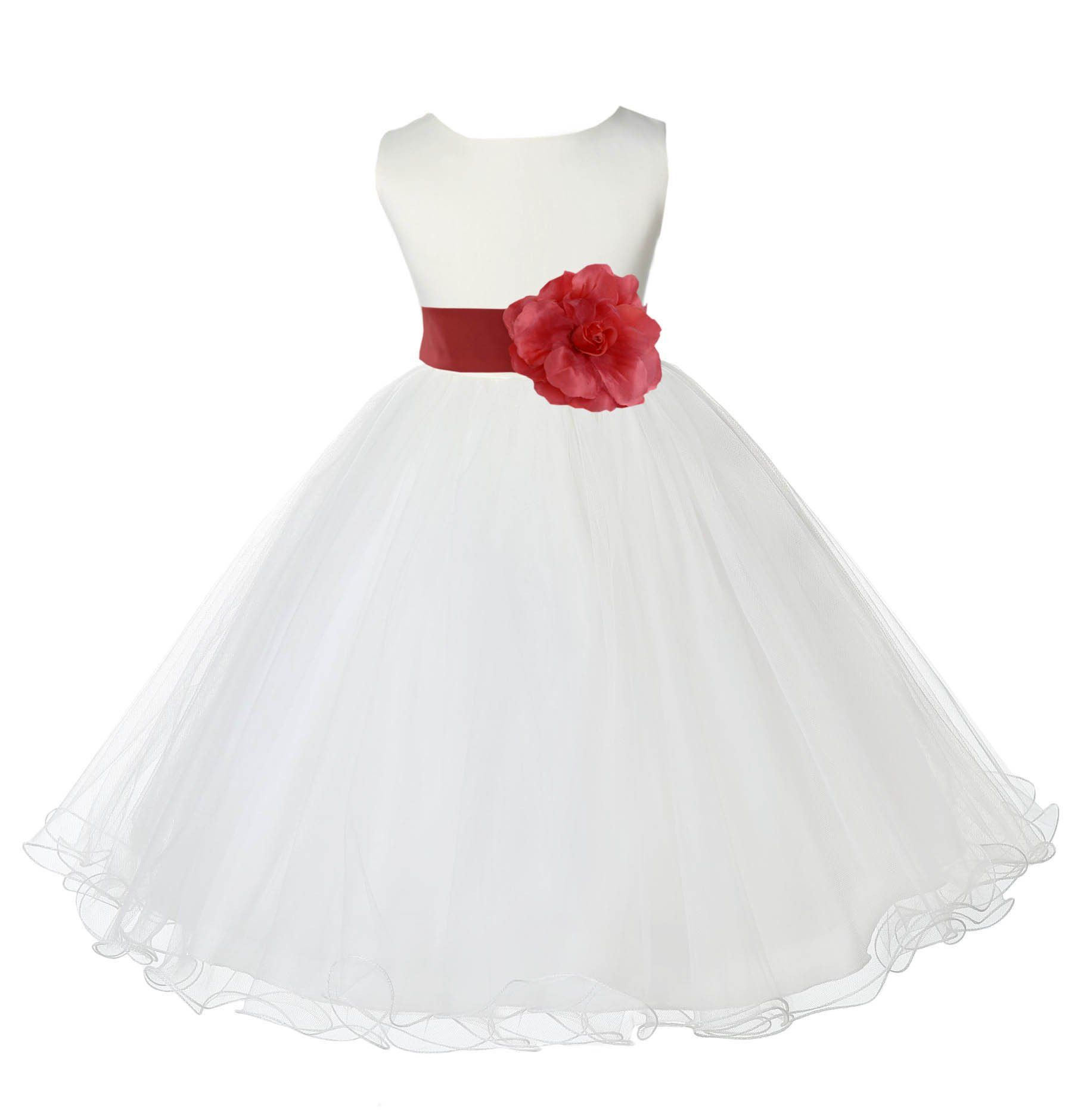 Ivory Formal Wedding Pageant Special Occasions Rattail