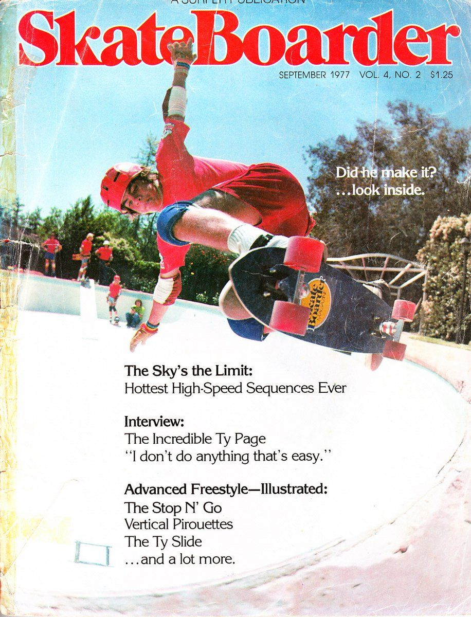 Skateboarder Magazine September 1977 Vintage skateboards