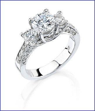 Gregorio 18K WG Diamond Engagement Ring R-268