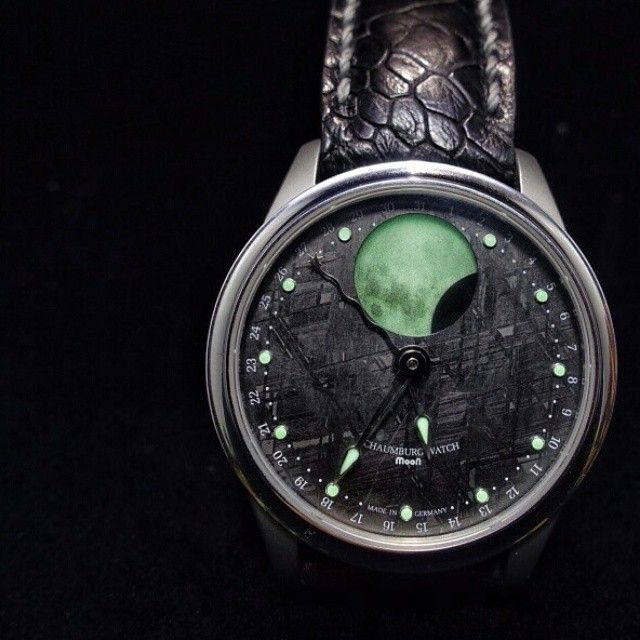 Schaumburg Perpetual Moon Meteorite Dial Wrist By Watch Strap
