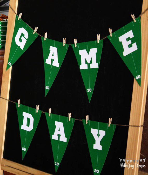 Football Field Pennant Banner Decoration Game Night Sports Birthday Party Event