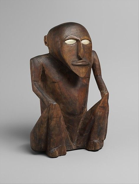 Seated Figure Satawan Caroline Islands Met Museum Afrikanische
