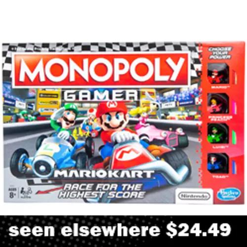 Black Friday Five Below Mario Kart Monopoly Game Nintendo Mario Kart