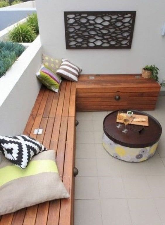 balkon hoekbank oplossing balkon apartment balcony. Black Bedroom Furniture Sets. Home Design Ideas
