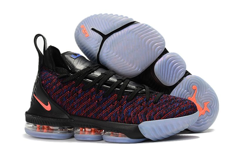 4a786dbf67ab8 2018 Men s Nike LeBron 16 Black Multicolor-Orange Basketball Shoes For Sale
