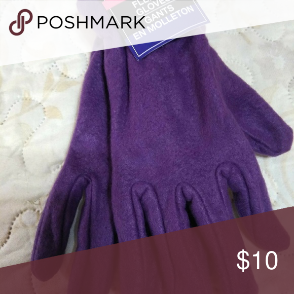 Fleece Purple Gloves New Tags On Fleece Warm Full Length