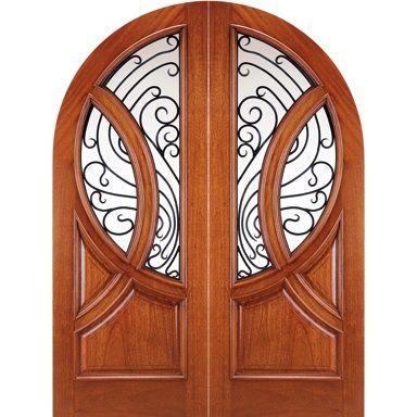 Door Emporium   Model # 149 Montmare U2013 Large Arched Double Doors Solid Wood  With Glass