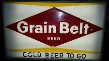 Rare Vintage Grain Belt Beer Lighted Sign | Beer, Beer signs