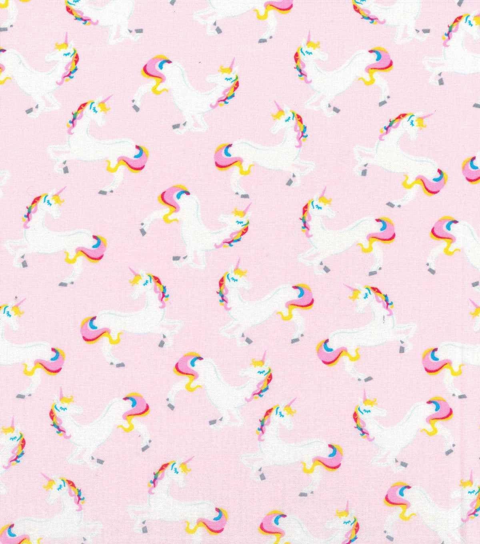 "Novelty Cotton Fabric 43""-Unicorn Pinknull"
