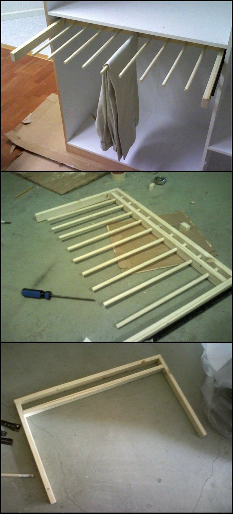How To Build A Sliding Pants Rack Http Theownerbuildernetwork Co Hd1a