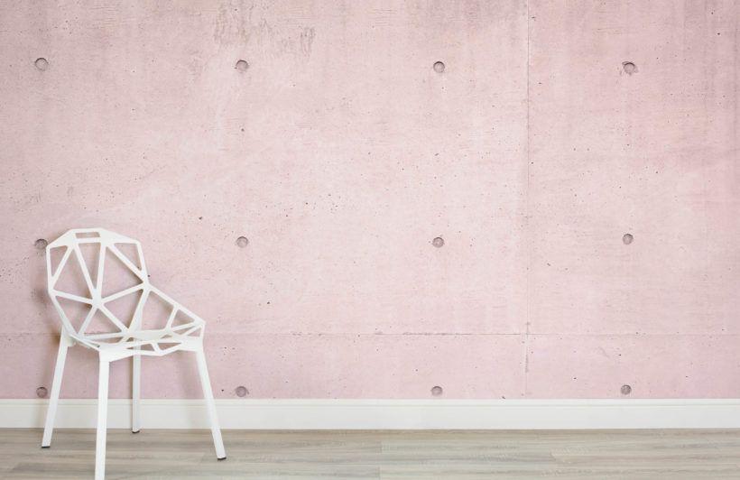 Pink Modern Concrete Block Wallpaper Mural Murals Wallpaper Feature Wall Design Concrete Wallpaper Mural Wallpaper