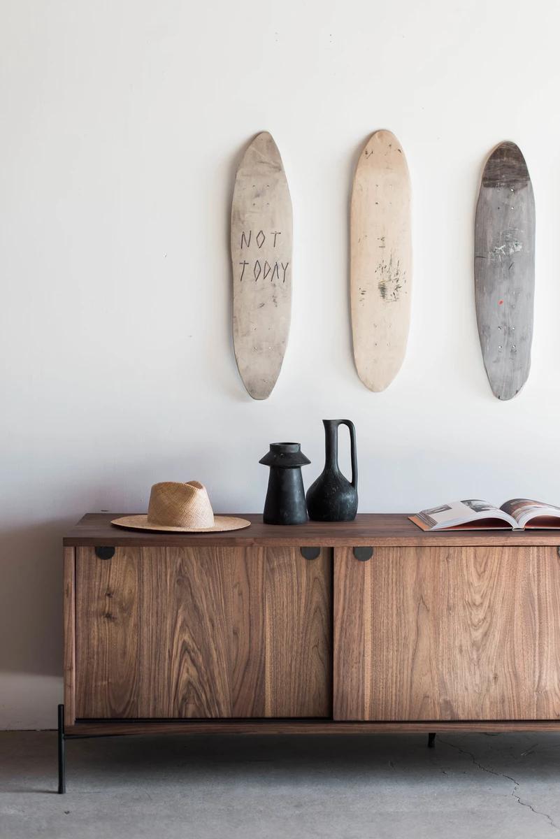 Spaulding Credenza In 2020 Walnut Doors Minimalist Home Decor