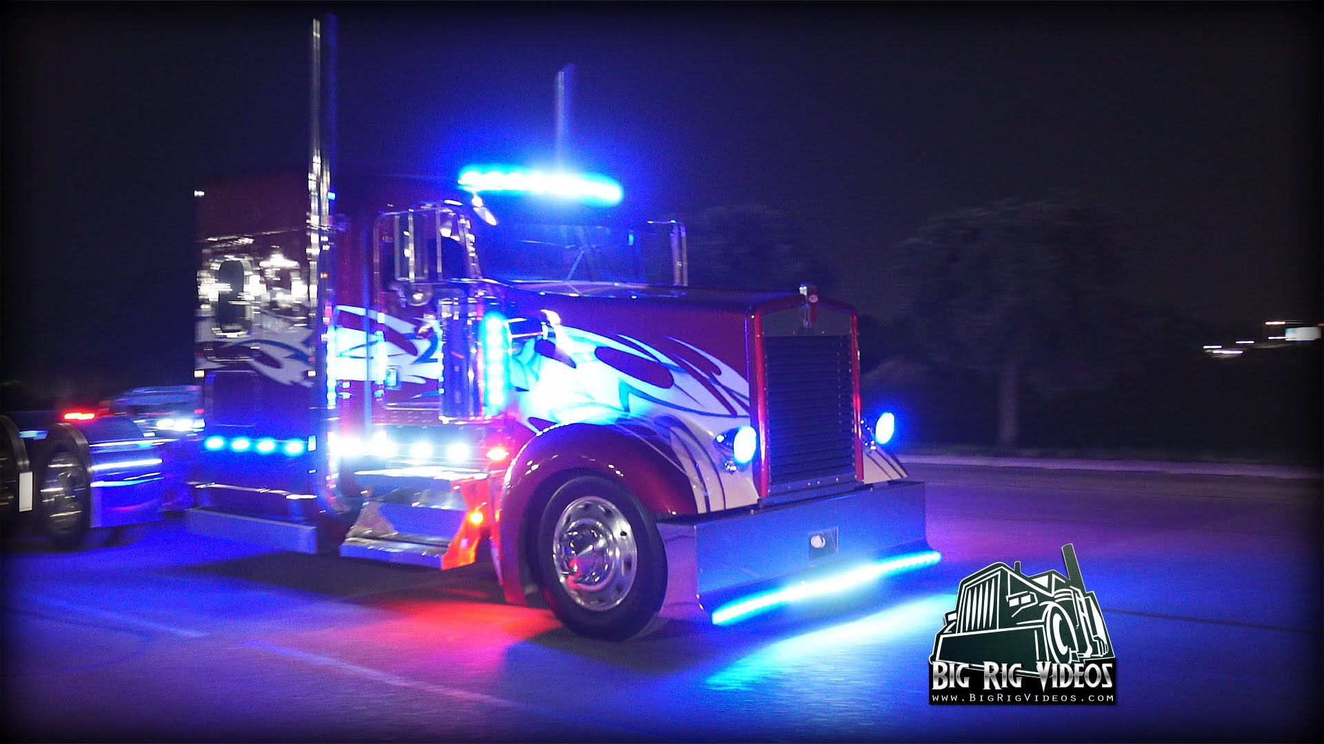 Light Em Up Light Show Complilation Light Em Up Big Trucks Big Rig Trucks