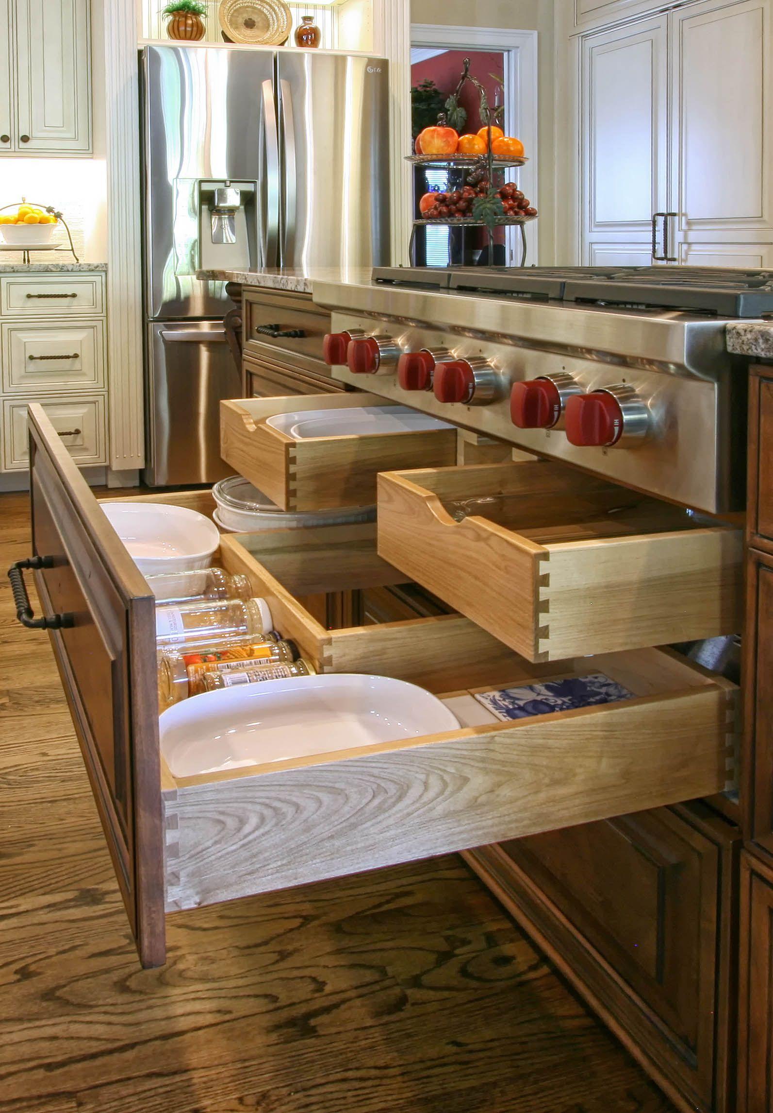 organize your kitchen with custom storage kitchen island design kitchen remodel layout on kitchen organization layout id=21614