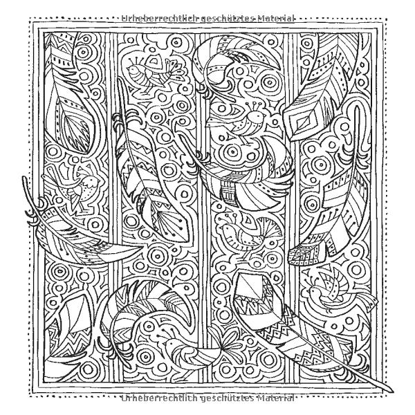 Zencolor Moments Vögel Schmetterlinge Ausmalbuch Für Erwachsene