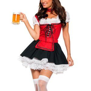 Wiesn Kleid Damen Kostüm Lustiges Bayerin Dirndl Heidi Party Fasching /%SALE/%