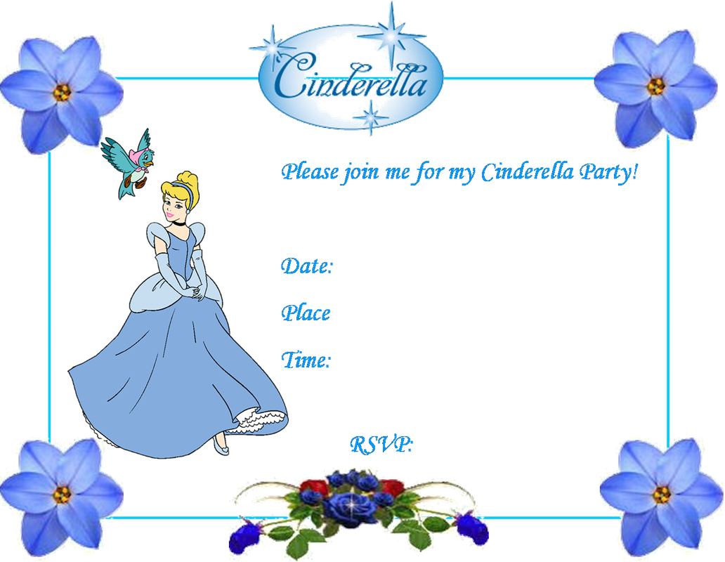 invite cinderella blue princess printables cinderella party ideas creative printables