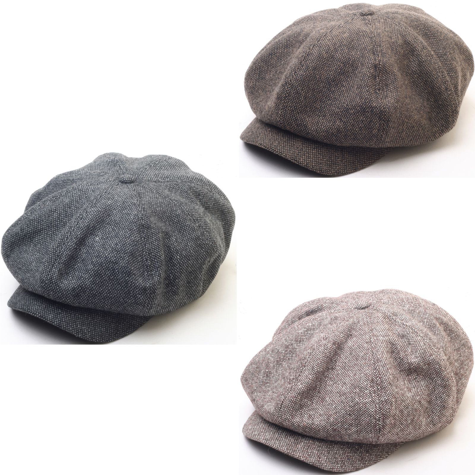 fa2b7809eb5 N124 8 Panel Homespun Harris Donegal Tweed Pattern Fabric Newsboy Cap  Gatsby Hat