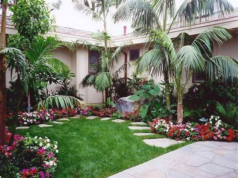 Palm tree landscaping ideas simply house decorating for Florida landscape ideas front yard