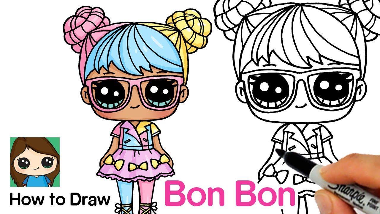 How To Draw Bon Bon Lol Surprise Dolls Cute Easy Drawings Cute Drawings Doll Drawing