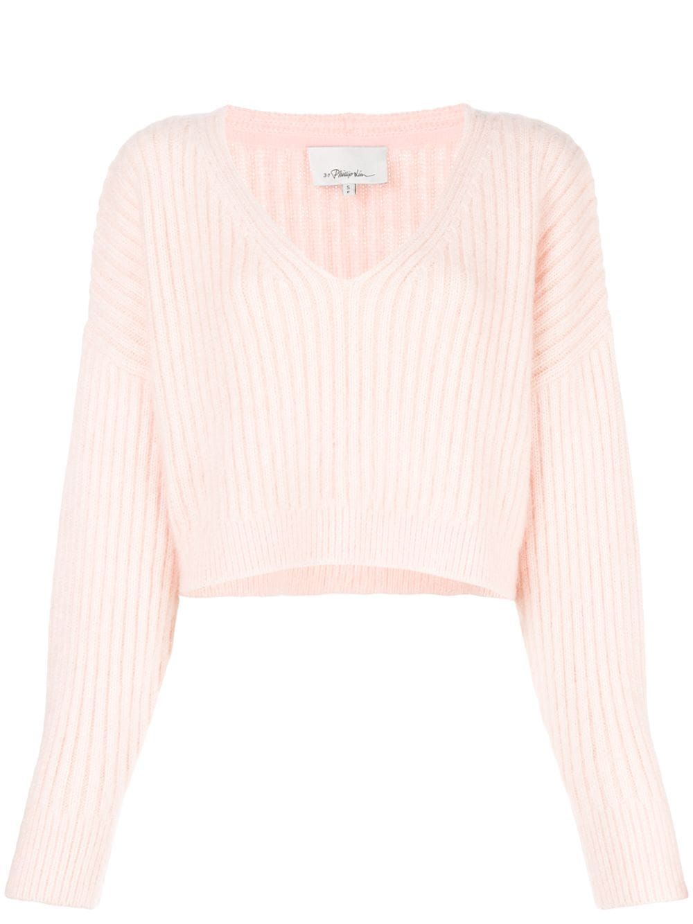 3.1 Philip Lim Cropped V-Neck Sweater