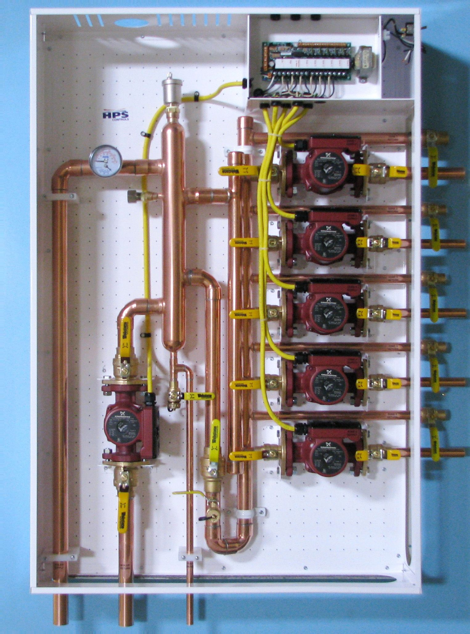 """""""New"""" Primary Secondary Hydronic Panel using a low loss"""