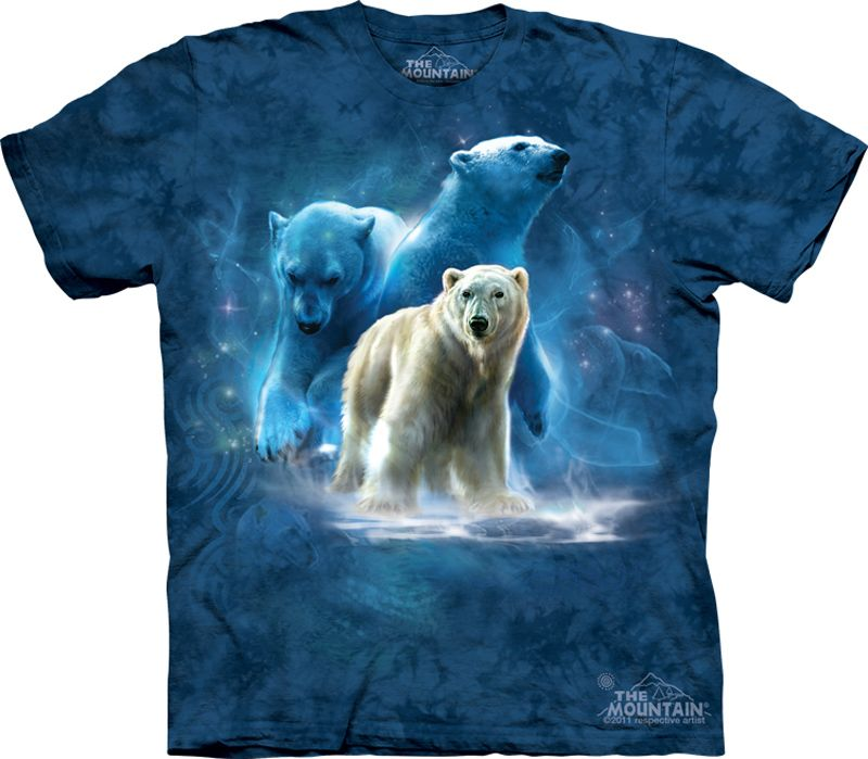 622f9cd7 Polar Bear Shirt Tie Dye Arctic Collage T-shirt Adult Tee Wildlife Shirts  Animal T-Shirts Tee Available in Small, Medium, Large, XL, 2XL & 3XL