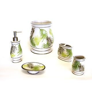 Sherry Kline Sago Palm Bath Accessory Piece Set By Sherry Kline