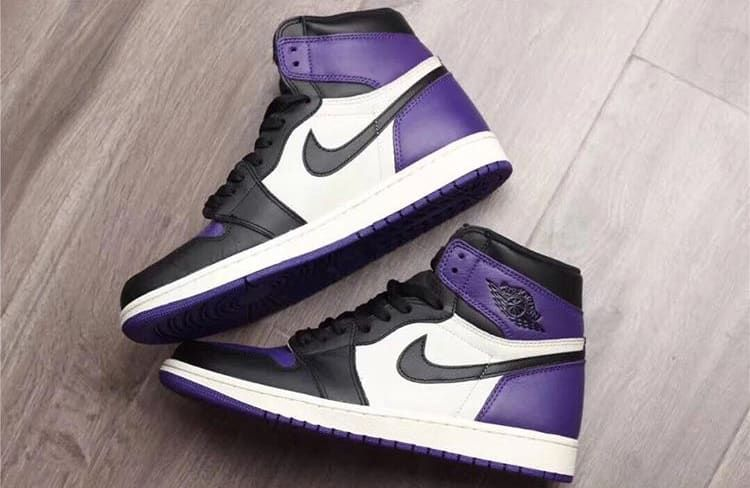 Air Jordan 1 High OG  Court Purple  555088-501 (Pair Lateral and Medial) 0396e52df