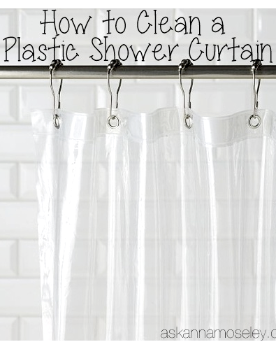 how to clean a plastic shower curtain