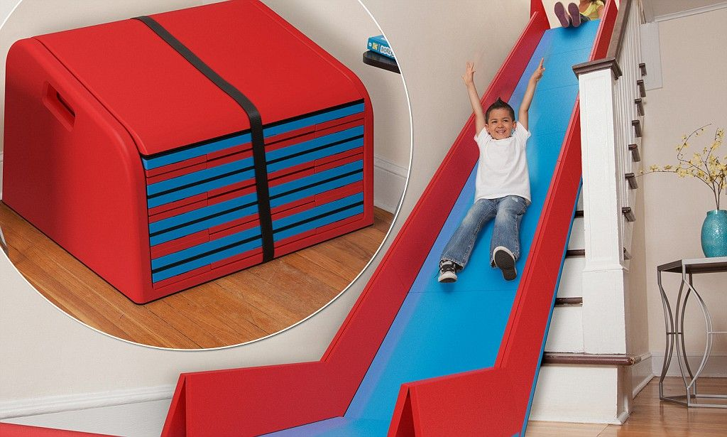 Whee Clever Fold Up Mat Turns Stairs Into A Slide I