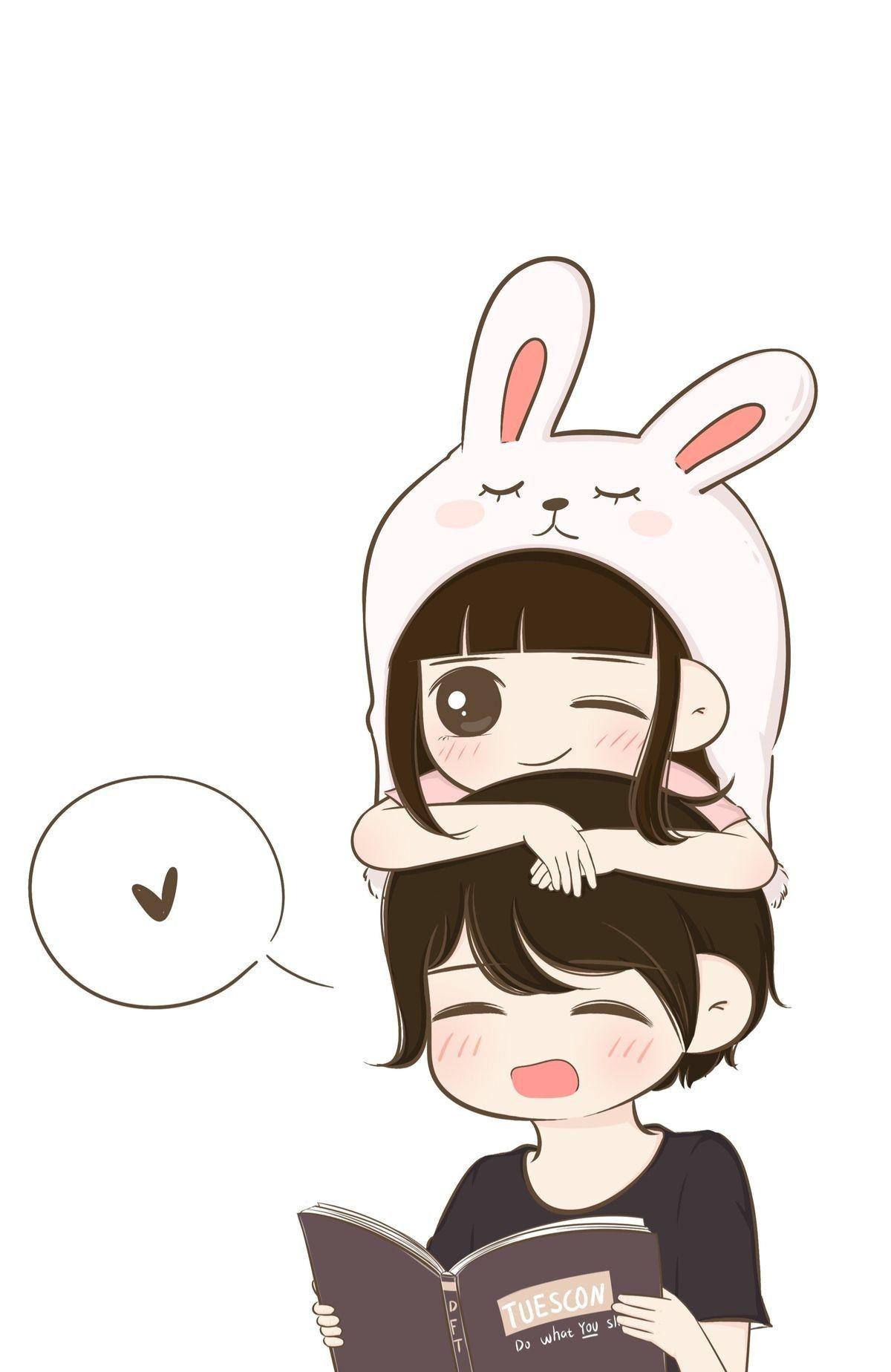 Pin By Meu Tia On Daddy Cute Cartoon Wallpapers Cute Couple Cartoon Cute Couple Wallpaper Anime wallpaper kawaii couple