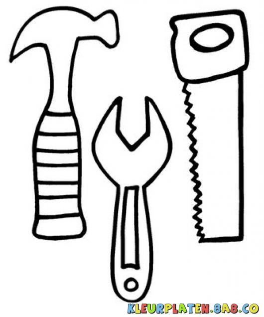 Betere timmerman gereedschap Kleurplaten | KLEURPLATEN VOOR KIDS HE-67
