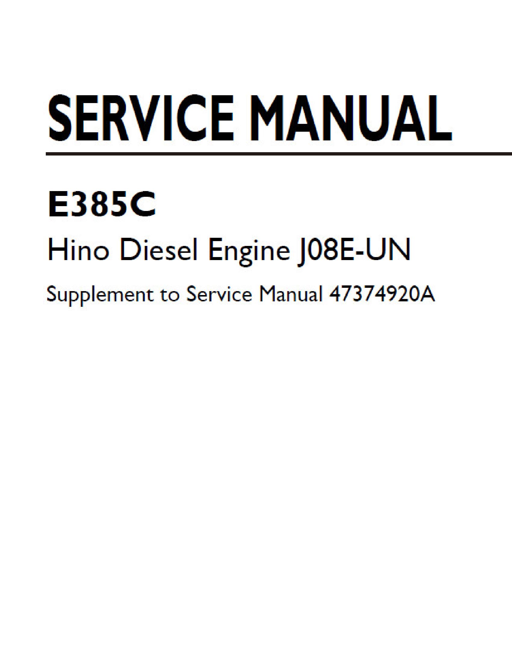 New Holland J08e Un Hino Diesel Engine Manual Hino Repair Manuals Manual