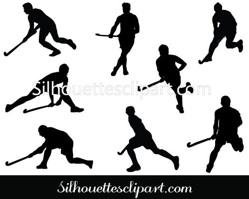 Hockey Player Silhouette Vector Download Hockey Vectors Silhouette Vector Silhouette Hockey Players