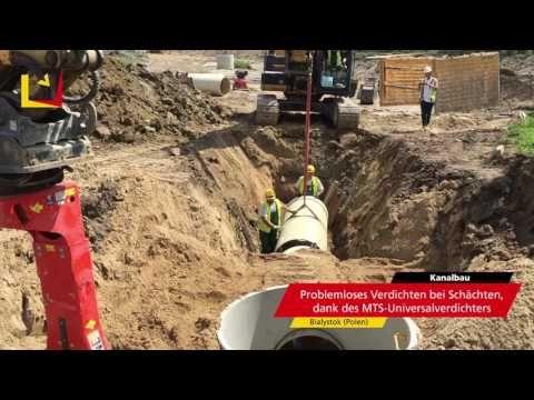 MTS Automatisierung im Kanalbau in Polen - YouTube