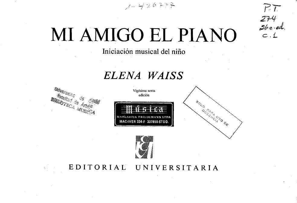 Mi Amigo El Piano: Iniciación Para Niños Descarga Gratis