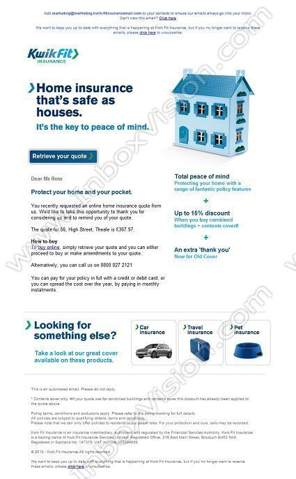 Image result for quote email design | Home insurance ...