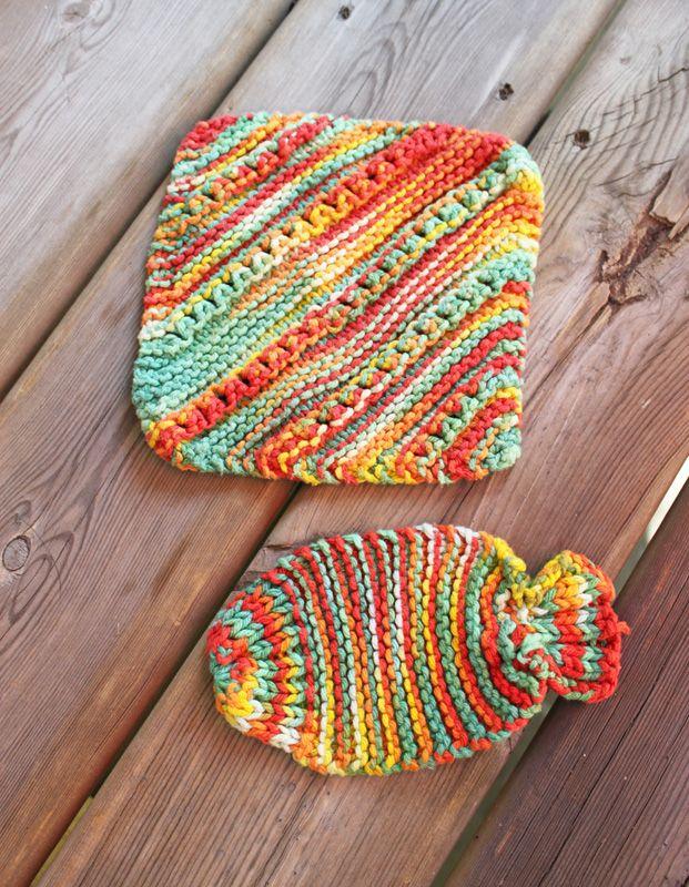 Wishy Washy Fish Tawashi & Bernat Eyelet & Ridge Dishcloth pattern ...