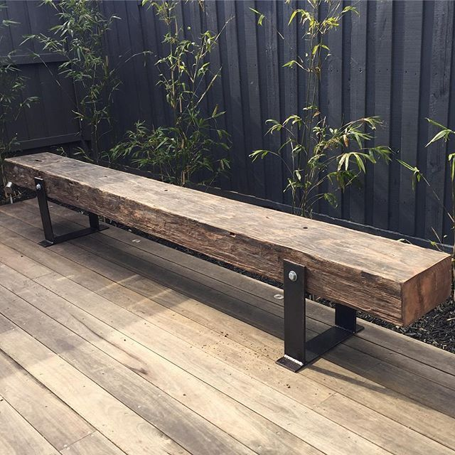 Pin By Timber Revival On Our New Recycled And Reclaimed: One Of Our Bench Seats Looking Good In Its New Home. These