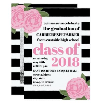 Cute Floral College Grad announcement - from Bold Paper Co