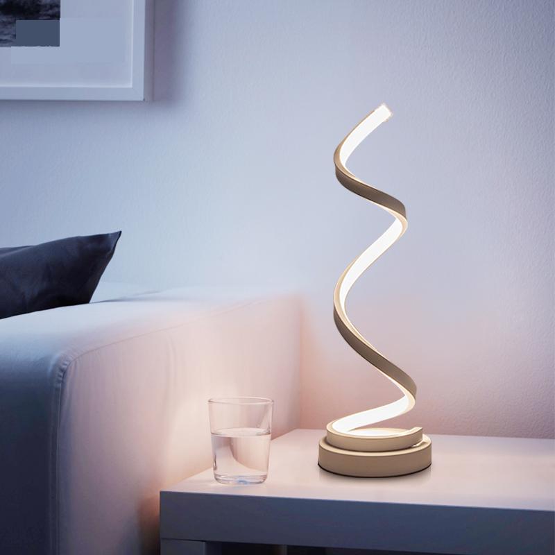 Modern Spiral LED Table Lamp For Bedroom & Living Room in 2019 ...