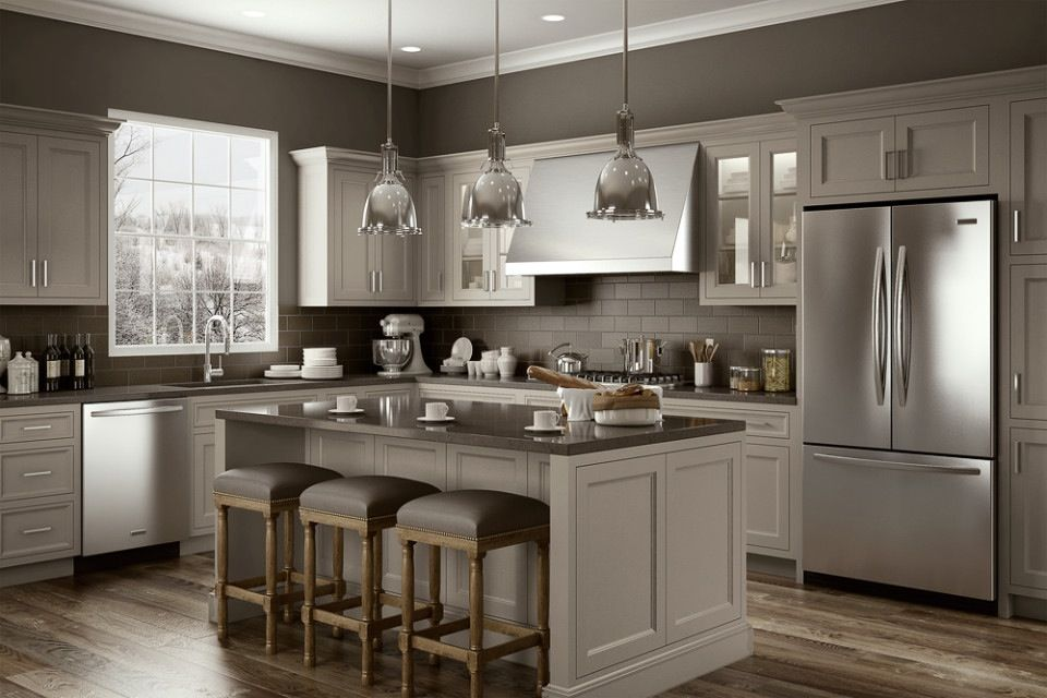 Clarksville Gray Cabinets Mom And Dad S Kitchen Ideas